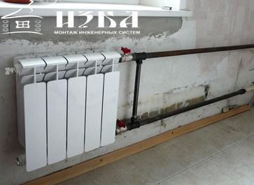 монтаж радиатора под ключ для отопления