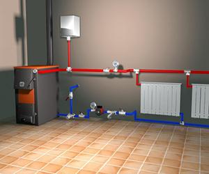Монтаж системы подачи теплоносителя в Пущино